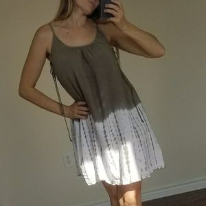 She and Sky Tie Die Ombre Color Block Boho Dress S